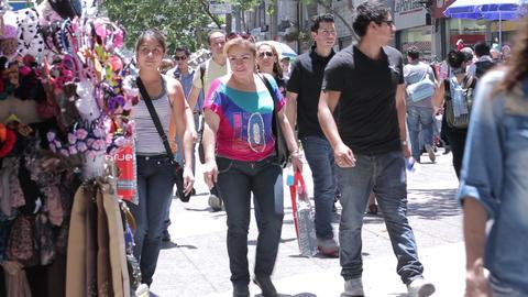 City street crowd Footage