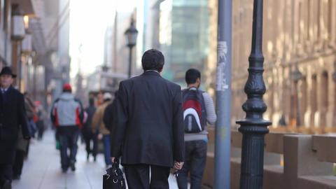 People walking in Santiago Footage