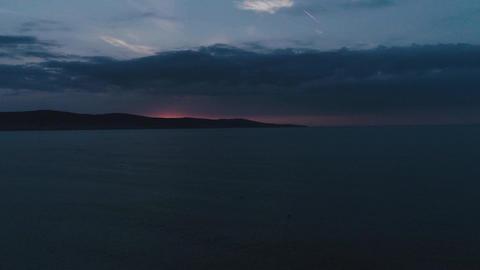 Sea before sunrise Footage