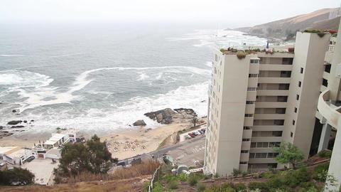 Seaside buildings Footage