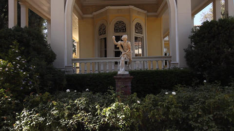 Luxury home with statue Footage