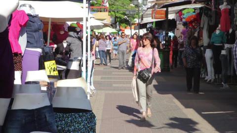 Pedestrians in street Footage