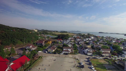 drone shooting from the sky daebudo Footage