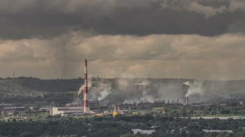 Industrial city4k Footage