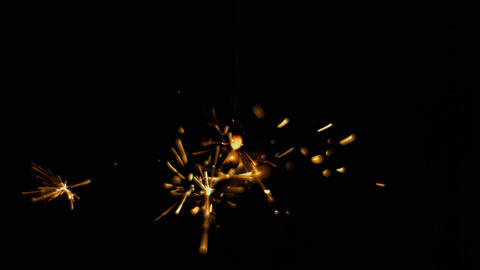 Sparkler japanese fireworks slow-motion Archivo