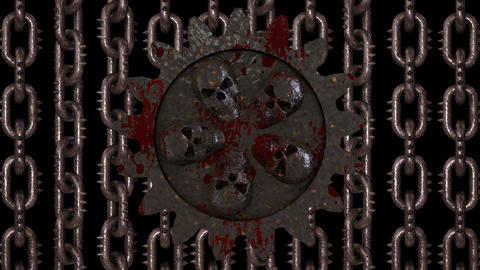 Rusty Hell Cogwheel Loop Animation