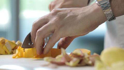 Slicing vegetables Footage