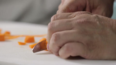 Slicing carrot Footage