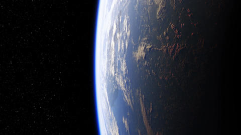 Amazing View Of Planet Earth From Space. Seamless Looped. Ultra High Definition. Animation
