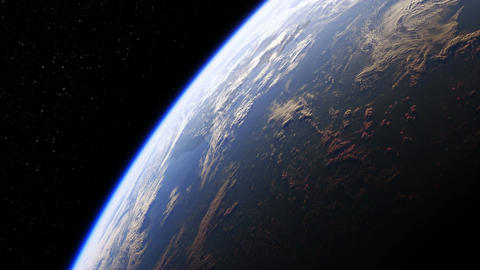 Amazing View Of Planet Earth From Space. Realistic 3d Animation. Seamless Looped Animation