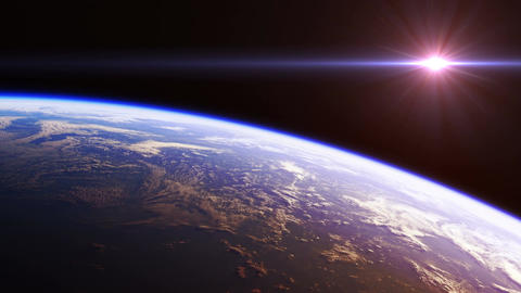 Beautiful View Of Planet Earth From Space. Seamless Looped. Ultra High Definitio Animation