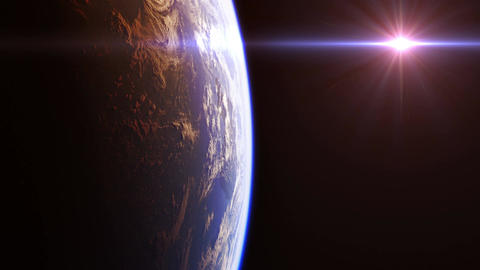 Beautiful View Of Planet Earth From Space. 4K. Seamless Looped Animation