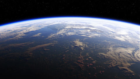 Amazing View Of Planet Earth From Space. Realistic 3d Animation. 4K.Seamless Loo Animation