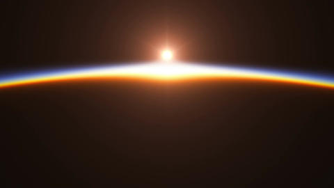 Realistic Sunrise Over The Earth. 4K Animation