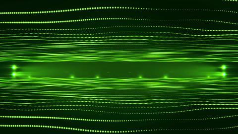 3D Green Virtual Hologram Waves Environment Motion Background Backdrop Animation
