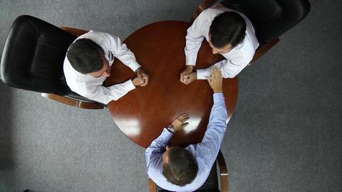 Office meeting overhead Footage