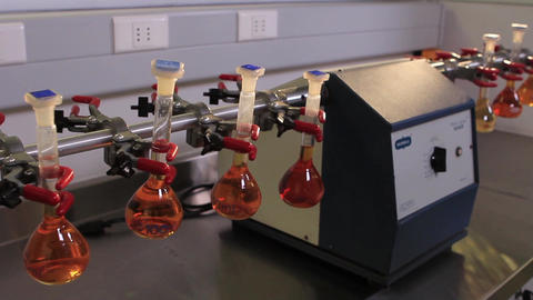 Test tubes in lab Footage
