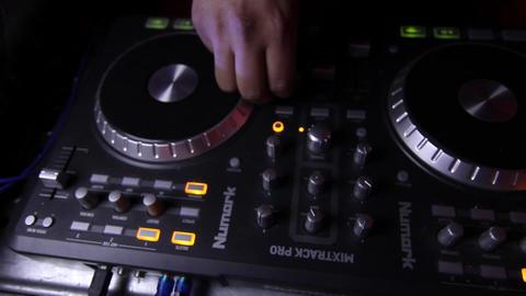 DJ spinning Footage