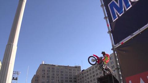 Biker jump Footage