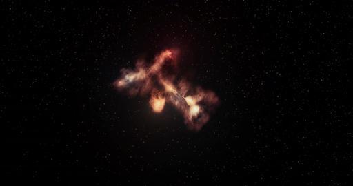 Flying Through Nebula in Space Full 4k Animation Animación