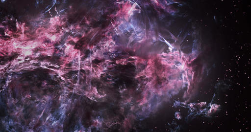 3D Space Flight Around Massive Gargantuan Nebula Videos animados