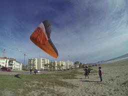 Paraglider on ground Footage