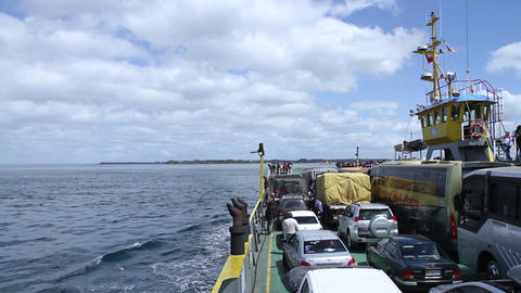 Cars in ferry Footage