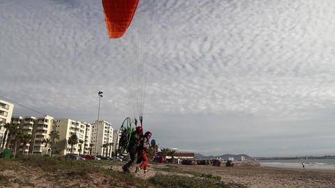 Paraglider beach take off Footage