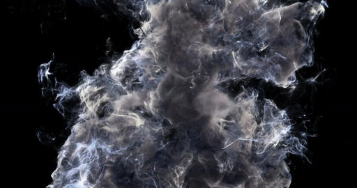 Motion Background VJ Loop - Noire Smoke Particles 4k + Matte Animation