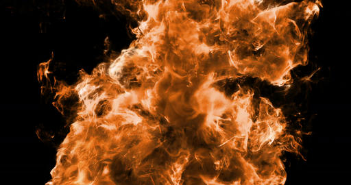 Motion Background VJ Loop - Orange Fire Particles 4k + Matte Animation