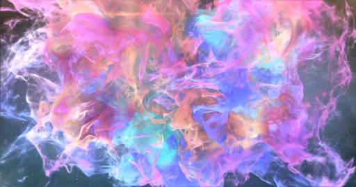 Motion Background VJ Loop - Pink Orange Purple Cyan Colorful Particles 4k Animation