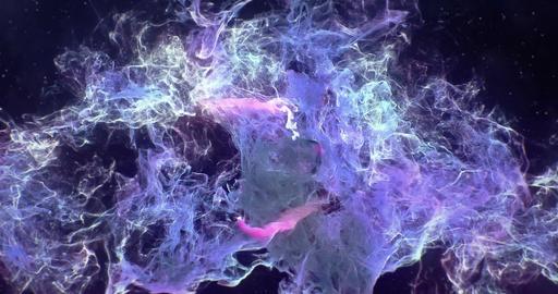 Motion Background VJ Loop - Dark Purple Pink Particles 4k Animation