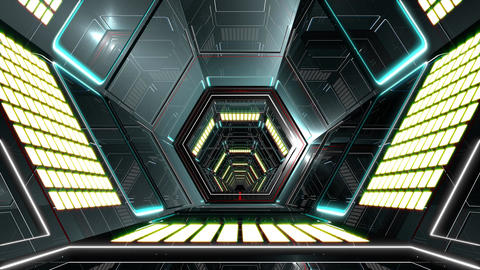 VJ Hexagonal Tunnel Animation