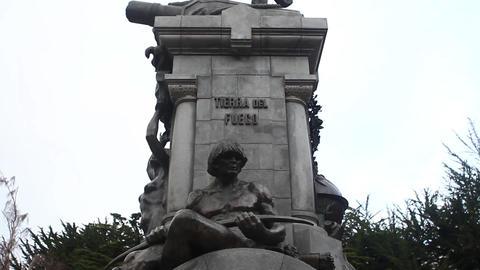 Sculpture in Punta Arenas Footage