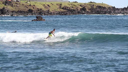 Easter island surfing Footage