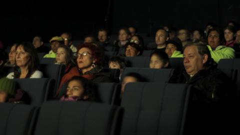 Watching movie timelapse Footage