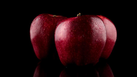 Fresh red apples ビデオ