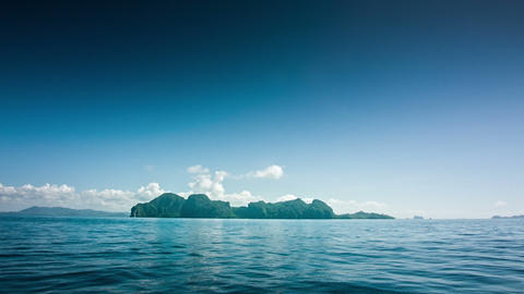 Island from a boat Footage