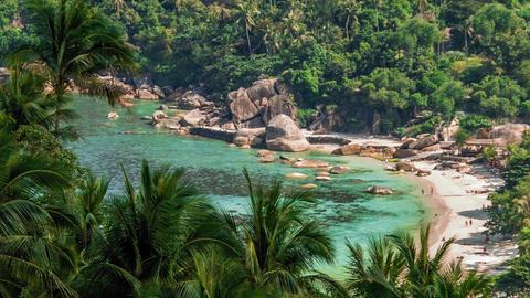 Tropical laguna beach Footage