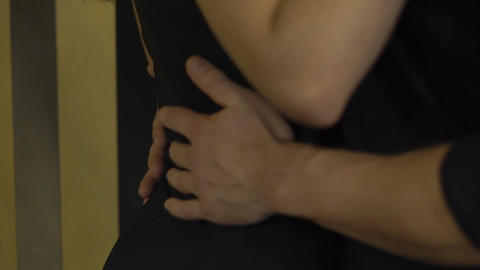 Slow Motion Couple Making Sex In Bedroom: Passion, Lovers, Young People Footage