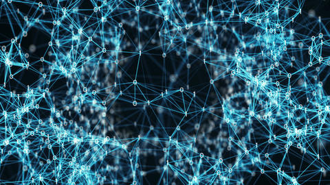 Abstract Motion Background - Flying Through Digital Binary Data Networks Animation