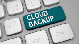 Cloud backup keyboard key animation Live Action