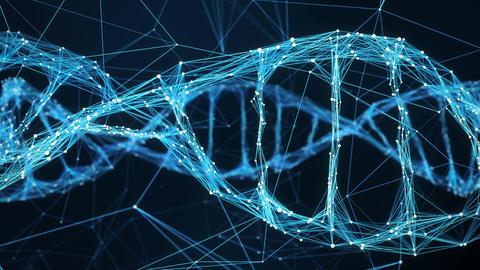 Abstract Motion Background - Digital Plexus DNA molecule 4k Loop 画像