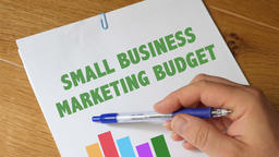 Small Business Marketing Budget Report Footage