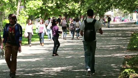 Campus students Footage