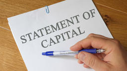 Statement of Capital. Report Concept Footage