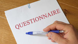 Questionnaire Concept Footage