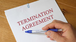 Termination agreement Agreement Concept Footage