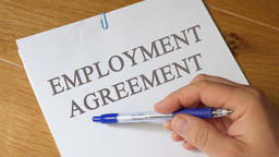Review of Employment Agreement Concept Footage
