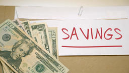 Savings money concept Footage